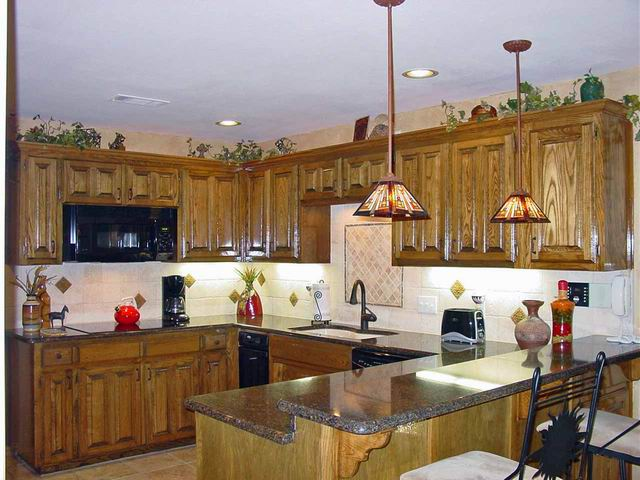 Note That The Cabinets Are Open Above And Rope Lighting Installed The Darker Color Of The Countertop Will Be Less Of A Cleaning Issue